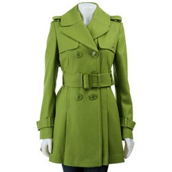 Miss Sixty Women's Double-breasted Wool Trench Coat - Thumbnail 0