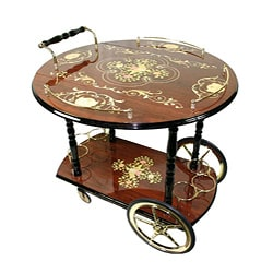 Sorrento Italian-style Drop Leaf Serving Cart - Thumbnail 0