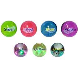 "2.5"" Light-up Glitter and 4"" Comet Bouncing Balls (Pack of 4) - Thumbnail 0"