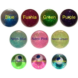 "4"" Fun Glitter Crystal and 2.5"" Light-up Eye Bouncy Balls (Set of 4) - Thumbnail 0"