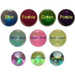 """4"""" Fun Glitter Crystal and 2.5"""" Light-up Glitter Bouncy Balls (Pack of 4) - Thumbnail 0"""