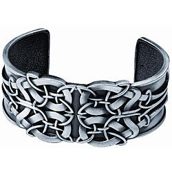 Pewter Celtic Shield Cuff Bracelet