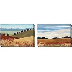 Gallery Direct AA Phoenix 'Meadow' Oversized Canvas Art Set