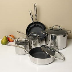 Shop Farberware Earthpan Stainless Steel 10 Piece Set