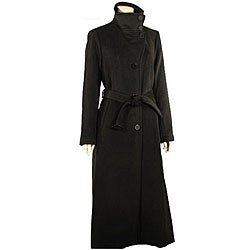 Liz Claiborne Women's Long Wool Coat - Free Shipping Today ...