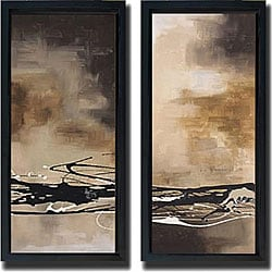 Laurie Maitland 'Tobacco & Chocolate I & III' Framed Art Set