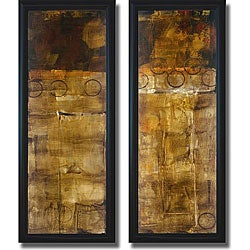 Liz Jardine 'Balancing Act I & II' Framed Canvas Art Set - Thumbnail 0