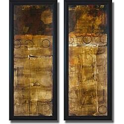 Liz Jardine 'Balancing Act I & II' Framed Canvas Art Set