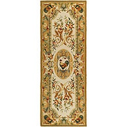Safavieh Hand-hooked Rooster Taupe Wool Runner Rug - 3' x 10'