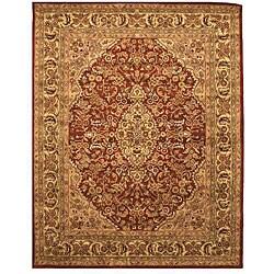 Hand-tufted Wool Rust Traditional Oriental Rust Simba Rug (7'9 x 9'9) - Thumbnail 0