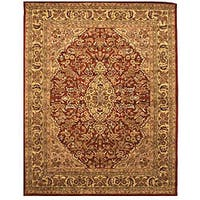Hand-tufted Wool Rust Traditional Oriental  Rust Simba Rug (7'9 x 9'9) - 8' x 10'