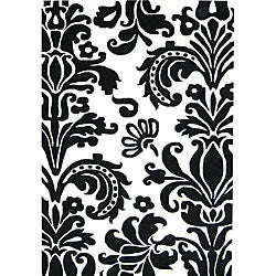 Alliyah Handmade Black New Zealand Blend Wool Rug (5' x 8')