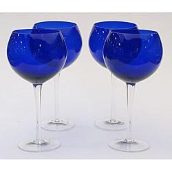 Certified International Cobalt 28-oz Red Wine Glasses (Set of 8)