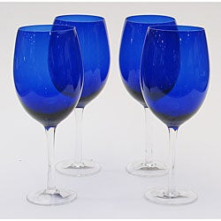 Certified International Cobalt 20-oz White Wine Glasses (Set of 8)
