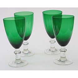 Certified International Green 16-oz Goblets (Set of 8)