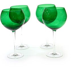 Certified International Green 28-oz Red Wine Glasses (Set of 8)