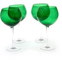Certified International Green 28-oz Red Wine Glasses (Set of 8)
