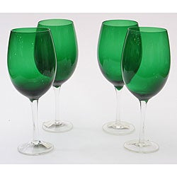 Certified International Green 20-oz Wine Glasses (Set of 8)