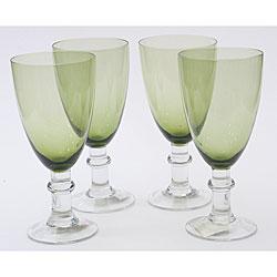Certified International Olive Green 16-oz Goblets (Set of 8)