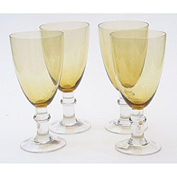 Certified International Dark Amber 16-oz Goblets (Set of 8)