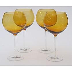 Certified International Dark Amber 28-oz Red Wine Glasses (Set of 8)