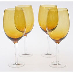 Certified International Dark Amber 20-oz White Wine Glasses (Set of 8)