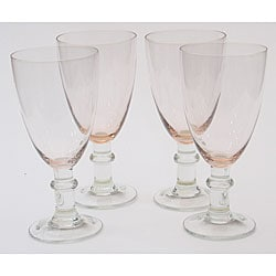 Certified International Pink 16-oz Goblets (Set of 8)