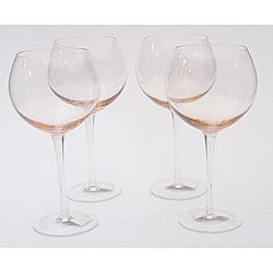 Certified International Pink 28-oz Red Wine Glasses (Set of 8)