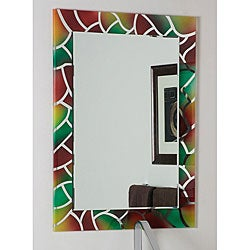Frameless Wall Mirror mosaic frameless wall mirror - free shipping today - overstock