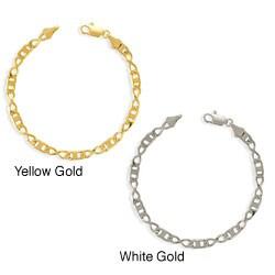 Simon Frank Gold Overlay 8-inch Figure 8 Gucci-style Bracelet