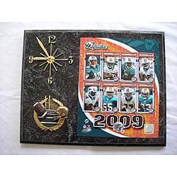 Miami Dolphins Team Picture Plaque Clock
