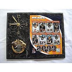Chicago Bears Team Picture Plaque Clock