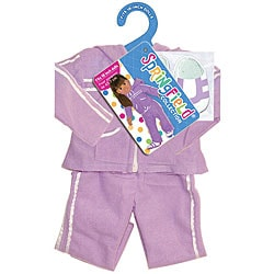 Springfield Collection Purple Athletic Suit and Shoes for Dolls - Thumbnail 0