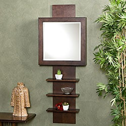 Shop Espresso Ladder Shelf Wall Mount Jewelry Armoire