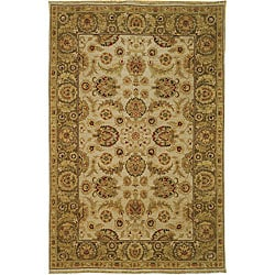 Heirloom Treasures Hand-knotted Ivory Wool Rug (9' x 12')