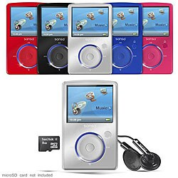 SanDisk Sansa Fuze 4GB SDMX14R FM MP3 Player Color Choose