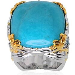 Michael Valitutti Sterling Silver / Palladium / 18k Vermeil Amazonite Ring