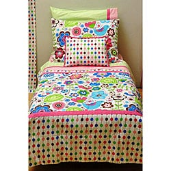Bacati Botanical Sanctuary Multicolored 4-piece Toddler Bedding Set