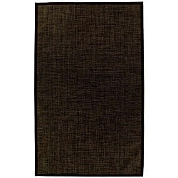 PVC Outdoor Black/ Brown Rug - 5' x 8' - Thumbnail 0