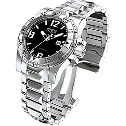 Invicta Men's Reserve Stainless Steel Black Dial Watch