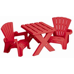 Shop American Plastic Toys Children S Plastic Table And Chairs Set Overstock 4374351