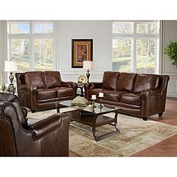 Terrific Breaker Leather Sofa And Loveseat Combo Overstock Com Shopping The Best Deals On Living Room Sets Dailytribune Chair Design For Home Dailytribuneorg