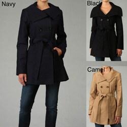 DKNY Women's Belted Rain Coat - Thumbnail 0