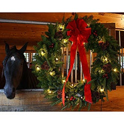 Classic Pre-lit 36-inch Fresh-cut Maine Balsam Wreath