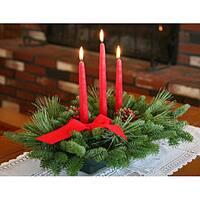 Classic 3-candle Fresh-cut Maine Balsam Centerpiece
