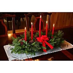 Classic 5-candle Fresh-cut Balsam Centerpiece