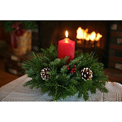 Classic Round Fresh-cut Maine Balsam Centerpiece