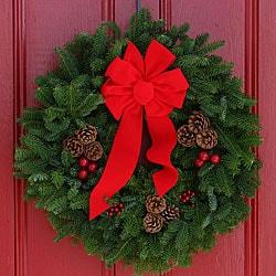 Classic Fresh-cut Maine Balsam 24-inch Wreath - Thumbnail 0