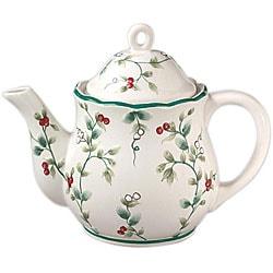 Pfaltzgraff Winterberry 4-cup Sculpted Teapot
