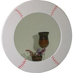 Baseball Design Round Mirror - Thumbnail 0